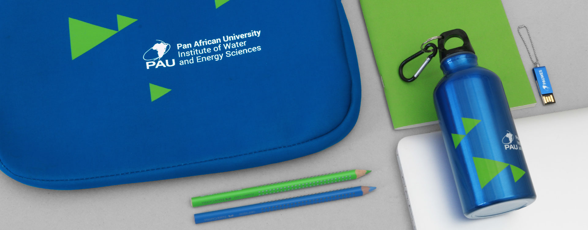 Inside of Student Guide of the Pan African University, Institute of Water and Energy Sciences PAUWES; Design: Kattrin Richter | Graphic Design Studio
