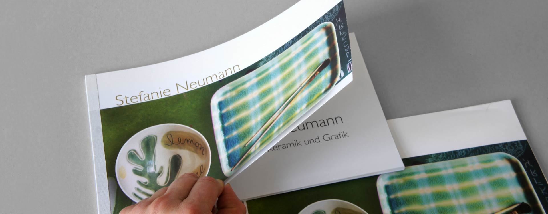 Catalogue Stefanie Neumann, Ceramics and Graphics; Design: Kattrin Richter | Graphic Design Studio