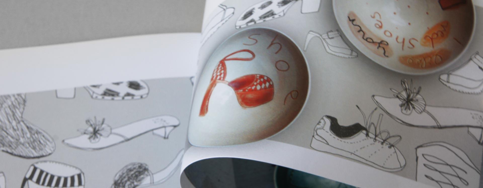 Catalogue Stefanie Neumann, Ceramics and Graphics; Design: Kattrin Richter   Graphic Design Studio