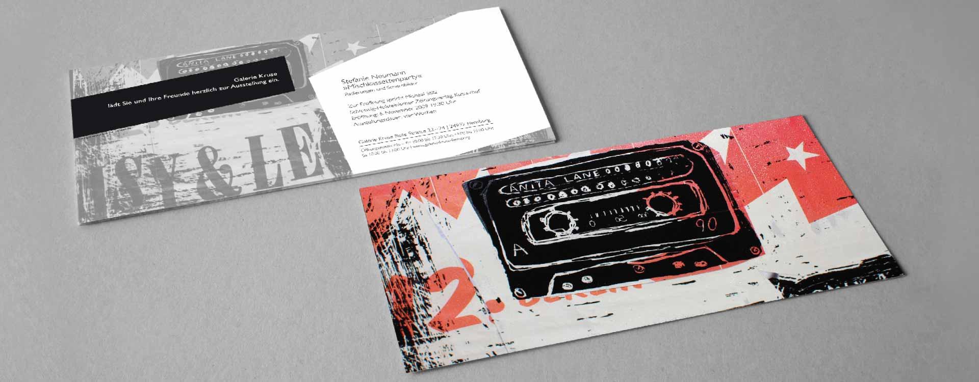 Invitation card for the solo exhibition of Stefanie Neumann in the Galerie Kruse, Flensburg; Design: Kattrin Richter   Graphic Design Studio