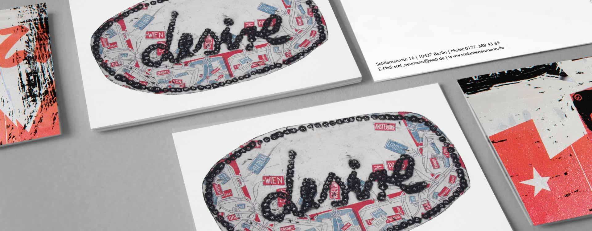 Postcards for Stefanie Neumann; Design: Kattrin Richter   Graphic Design Studio