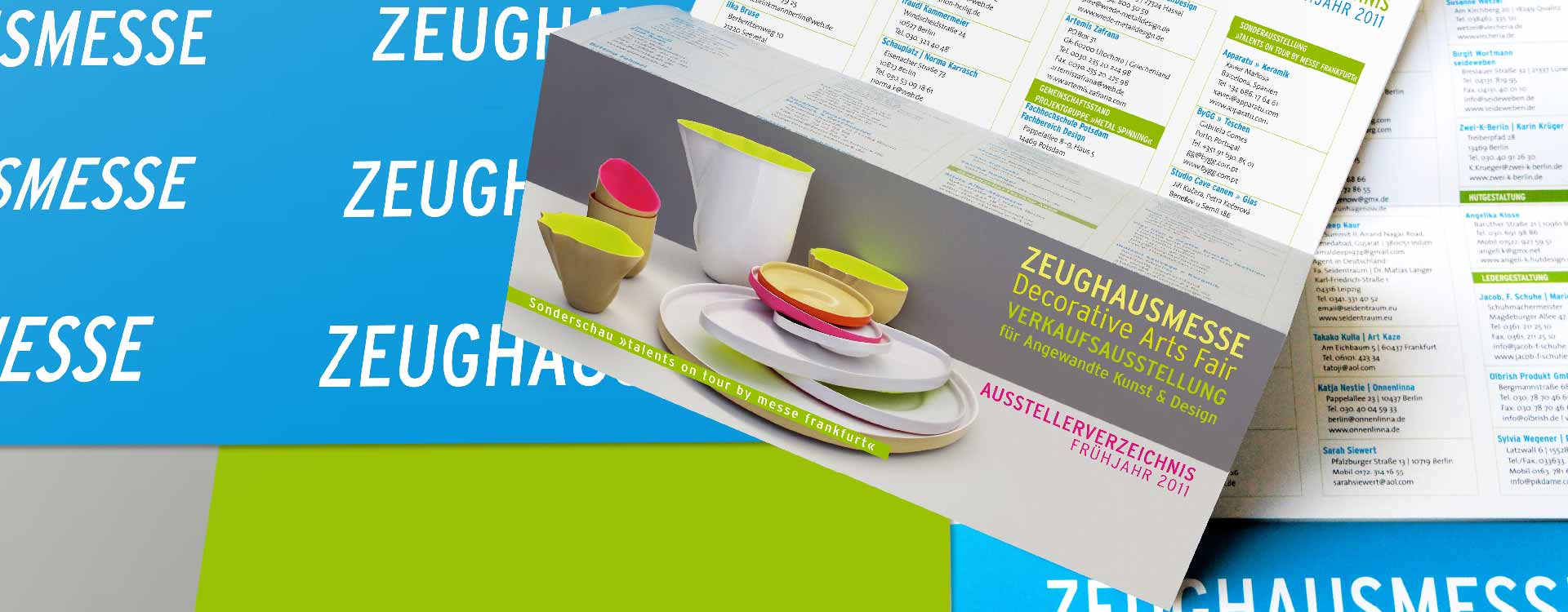 Flyer for Zeughausmesse; Design: Kattrin Richter | Graphic Design Studio